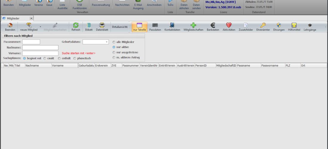 ZMI Client - Neues Mitgliederverwaltungsprogramm
