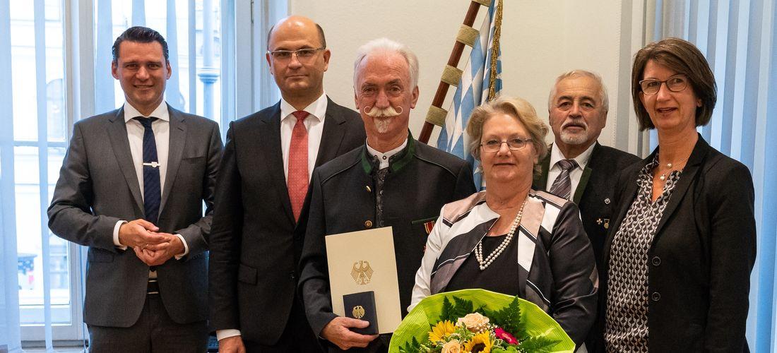Glückwunsch an Präsident Franz Brunner